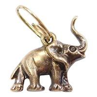 Lucky Elephant Charm 9k Gold