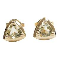 Heliodor .76 ctw Stud Earrings 10k Gold