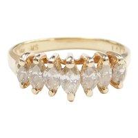 Diamond Marquise 1.05 ctw Anniversary Band Ring 14k Gold