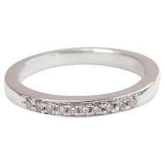 Platinum Diamond .10 ctw Wedding Band Ring
