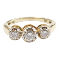 Diamond .50 ctw Three Stone Ring 14k Gold Two-Tone
