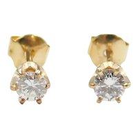Diamond .36 ctw Stud Earrings 14k Gold
