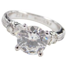 Sterling Silver 1.90 ct Faux Diamond Engagement Ring