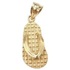 14k Gold Flip Flop Charm