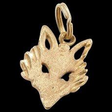 Vintage14k Gold Fox Head Charm