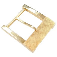 Vintage 14k Gold Belt Buckle