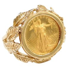Reserved For Michael D Charming Liberty 5 Dollar Gold Coin In A 14 The Royal Jackalope