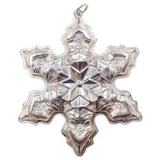1975 Sterling Silver Gorham Snowflake Ornament