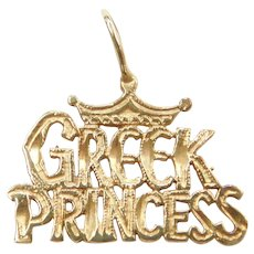 14k Gold Greek Princess Charm