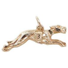 Vintage 14k Gold Greyhound #3 Racing Dog Charm