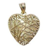 Vintage 14k Gold Heart Charm / Pendant