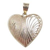 Vintage 14k Gold Heart Pendant / Charm