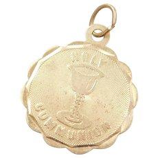 Vintage 14k Gold Religious Holy Communion Charm