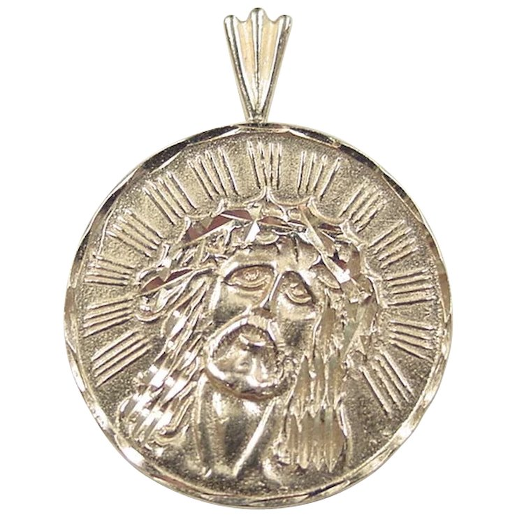 gold pendant jewellry plated website set men cross iced necklace for beautiful jesus medallion s out rope chain