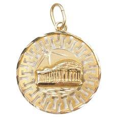 14k Gold Julius Caesar and Greek Parthenon Charm