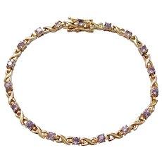 Tanzanite 2.16 ctw Bracelet Sterling Silver Gold Vermeil