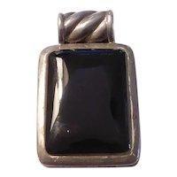 Black Onyx Pendant Sterling Silver