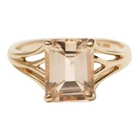 White Sapphire 2.30 Carat Solitaire Ring 10k Gold