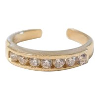 Faux Diamond .25 ctw Toe Ring 10k Gold
