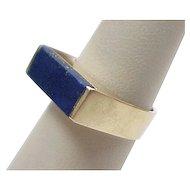 Vintage 14k Gold Handmade Lapis Lazuli Ring ~ Denmark