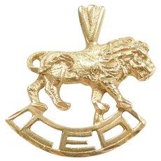 14k Gold Leo Zodiac Lion Charm July 22 – August 23