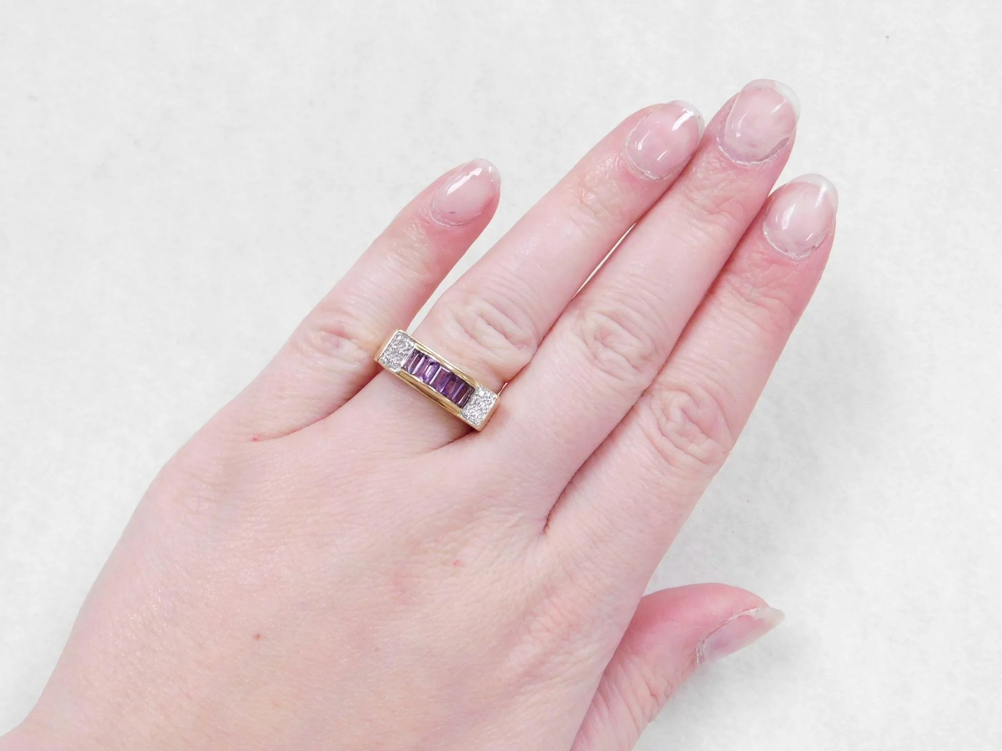 LeVian 18k Gold Amethyst and Diamond Ring ~ Le Vian : Arnold ...