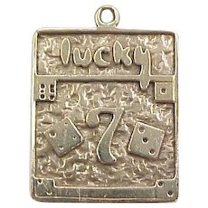 Vintage 14k Gold Lucky Seven Dice Charm