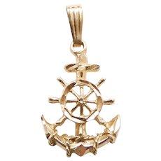Mariners Cross Pendant / Charm 14k Gold