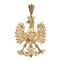 Eagle Heraldry / Crest Pendant / Charm 14K Gold
