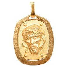 Religious Jesus Christ Pendant / Charm 18k Gold