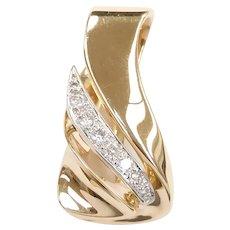 Diamond .16 ctw Slide Pendant 14k Gold Two-Tone
