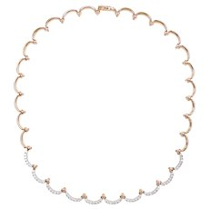 Elegant Diamond 1.75 ctw Necklace 14k Two-Tone
