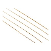 Long Box Chain Necklace 18k Gold