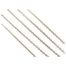 Cable Link Chain Necklace 14k Gold