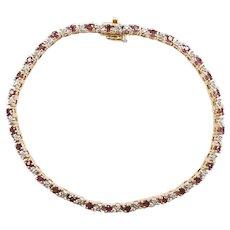 Ruby and Diamond 2.48 ctw Tennis Bracelet 14k Gold Two-Tone