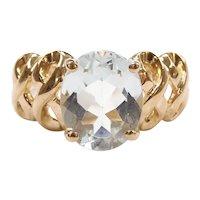 Aquamarine 1.87 Carat Solitaire Ring 10k Gold