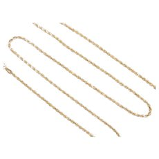 Diamond Cut Rope Chain 14k Gold