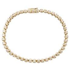 Diamond 1.70 ctw Tennis Bracelet 10k Gold
