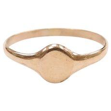 Baby / Childs Signet Ring 10k Gold