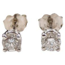 Diamond .66 ctw Stud Earrings 14k Gold