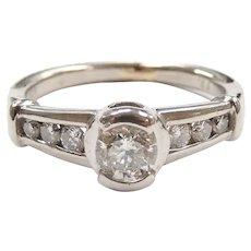 Diamond .56 ctw Engagement Ring Platinum