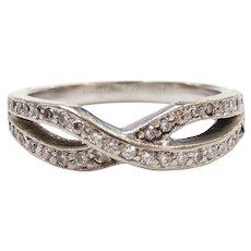 Diamond .56 ctw Crisscross Band Ring 14k White Gold