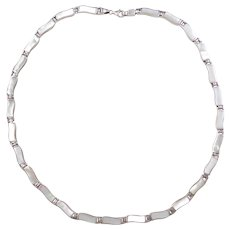 """Sterling Silver Mother of Pearl Necklace ~ 18"""""""