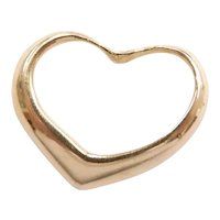 Floating Heart Pendant / Charm 14k Yellow Gold