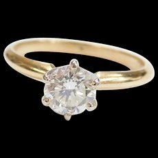 .83 Carat Diamond Solitaire Engagement Ring 14k Gold