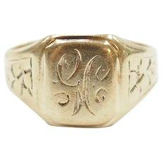 Edwardian Signet Ring 14k Gold