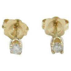 Petite Diamond .08 ctw Stud Earrings 14k Gold