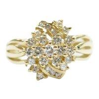 Diamond .43 ctw Cluster Ring 18k Gold