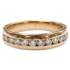 Diamond .54 ctw Wedding Band Ring 14k Gold