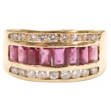 Ruby and Diamond 1.32 ctw Band Ring 18k Gold